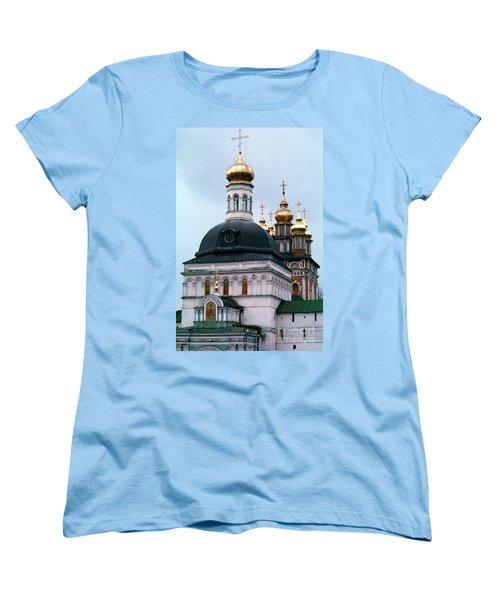 Trinity Lavra Of St. Sergius Monastery Sergiev Posad Women's T-Shirt (Standard Cut) by Wernher Krutein