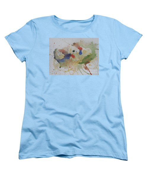 Women's T-Shirt (Standard Cut) featuring the painting Triple Rooster Race by Vicki  Housel