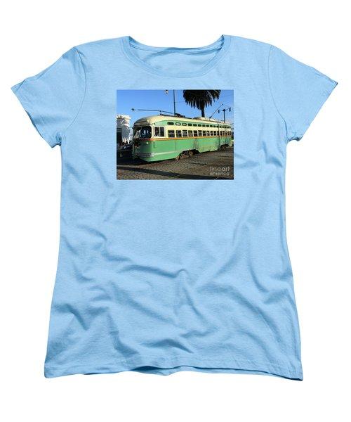 Women's T-Shirt (Standard Cut) featuring the photograph Trolley Number 1058 by Steven Spak