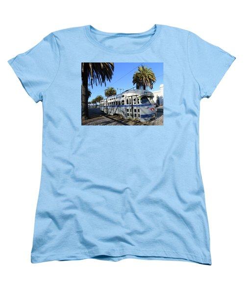 Women's T-Shirt (Standard Cut) featuring the photograph Trolley Number 1070 by Steven Spak