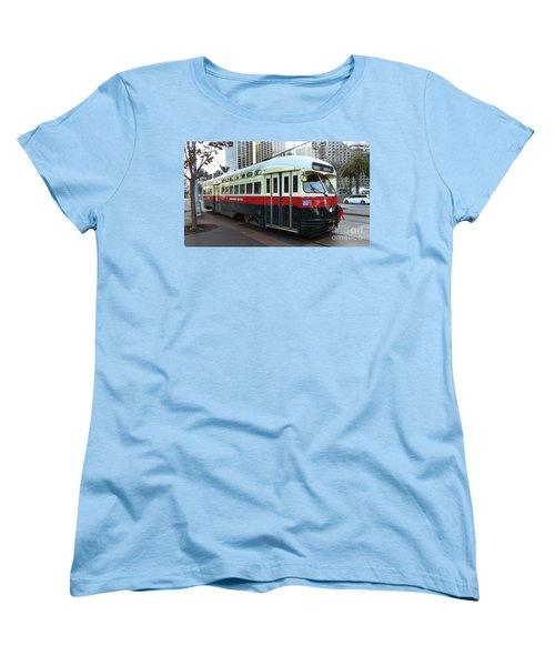 Women's T-Shirt (Standard Cut) featuring the photograph Trolley Number 1077 by Steven Spak