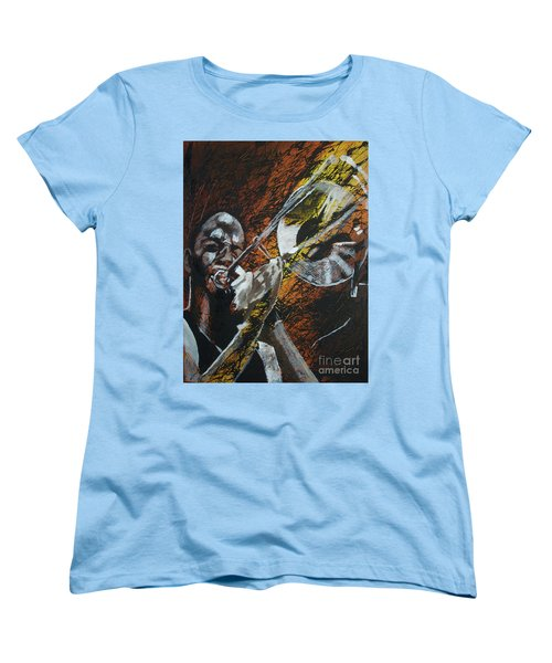 Women's T-Shirt (Standard Cut) featuring the painting Trombone Shorty by Stuart Engel