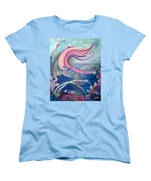 Women's T-Shirt (Standard Cut) featuring the painting Tropical Dancer by Renate Nadi Wesley
