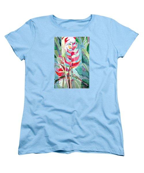 Tropicana Red Women's T-Shirt (Standard Cut) by Mindy Newman
