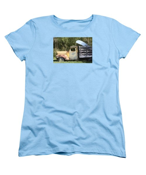 Truck And Canoe Women's T-Shirt (Standard Cut) by Donna G Smith