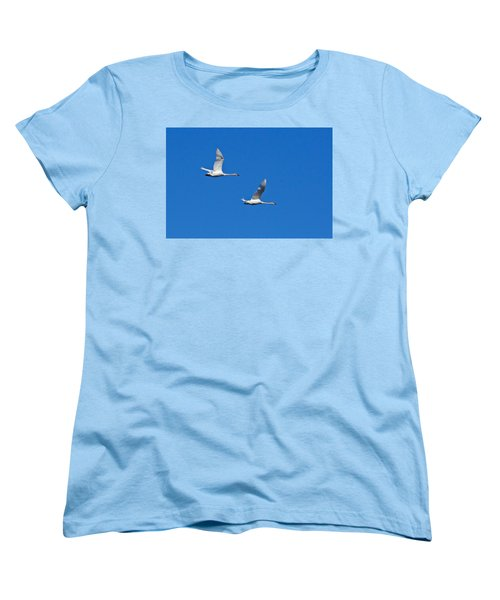 Women's T-Shirt (Standard Cut) featuring the photograph Trumpeter Swan 1727 by Michael Peychich