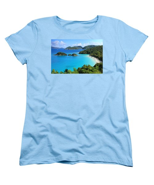 Trunk Bay St. John Women's T-Shirt (Standard Cut) by Roupen  Baker