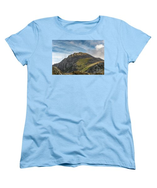 Women's T-Shirt (Standard Cut) featuring the photograph Tryfan Snowdonia by Adrian Evans