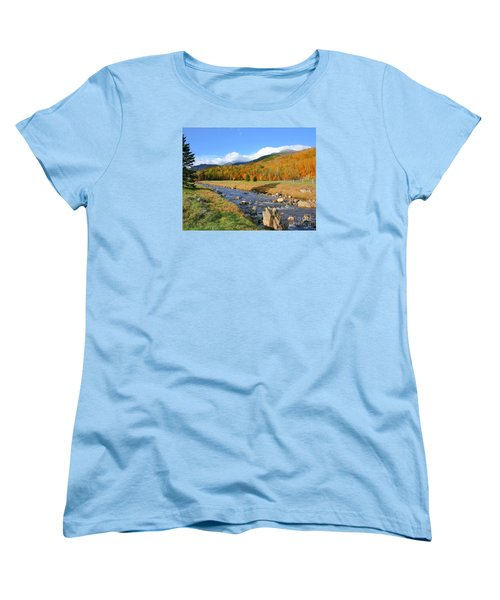 Women's T-Shirt (Standard Cut) featuring the photograph Tuckerman's Ravine by Debbie Stahre