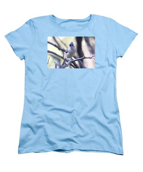 Tufted Titmouse Women's T-Shirt (Standard Cut) by Trina Ansel