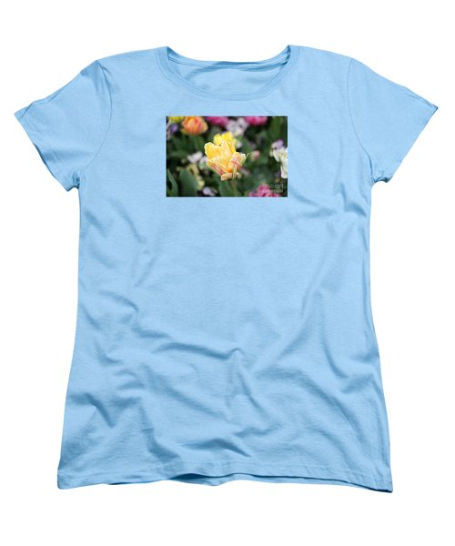 Women's T-Shirt (Standard Cut) featuring the photograph Tulips by Diana Mary Sharpton