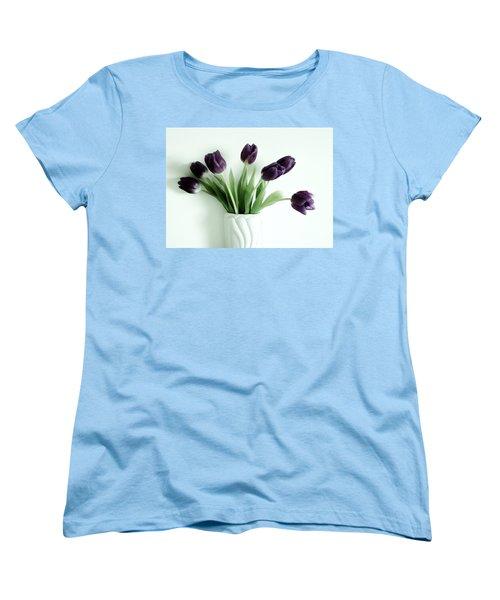 Tulips For You Women's T-Shirt (Standard Cut) by Marsha Heiken