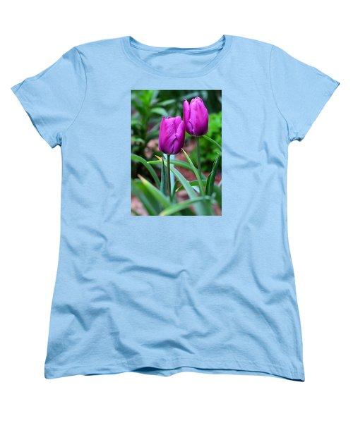 Tulips Women's T-Shirt (Standard Cut) by Kathy Eickenberg