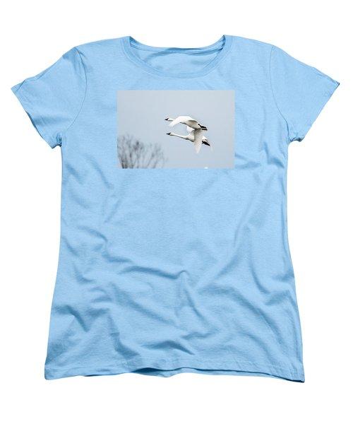 Tundra Swan Lift-off Women's T-Shirt (Standard Cut)
