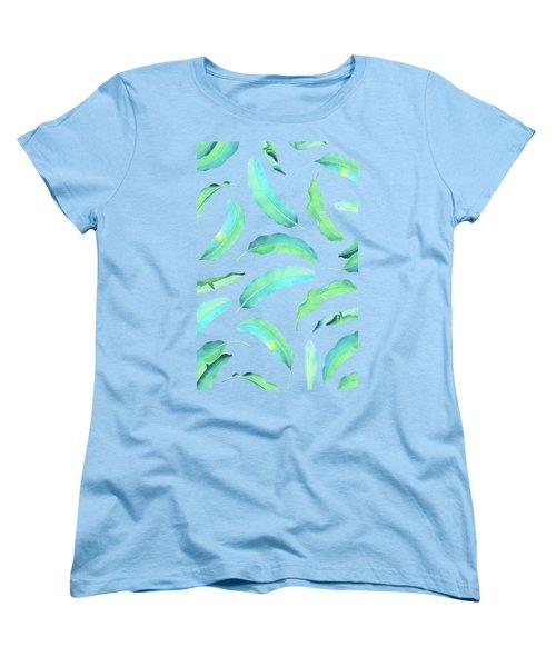 Turn Over A New Banana Leaf  Women's T-Shirt (Standard Cut) by Uma Gokhale