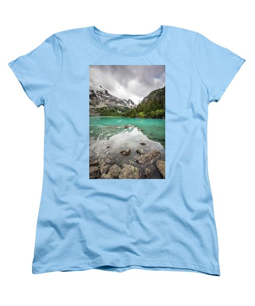 Women's T-Shirt (Standard Cut) featuring the photograph Turquoise Lake In The Mountains by Pierre Leclerc Photography