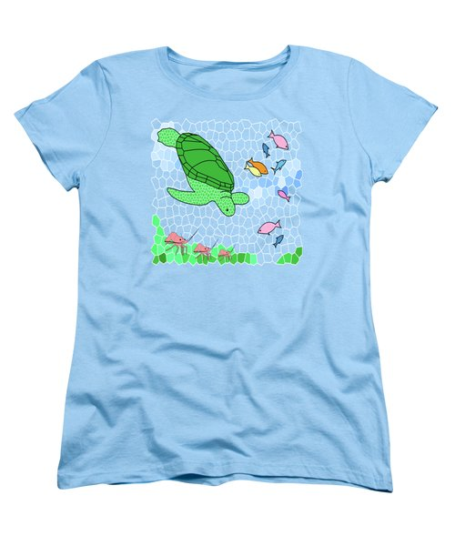Turtle And Friends Women's T-Shirt (Standard Cut) by Methune Hively