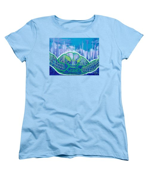 Turtle Women's T-Shirt (Standard Cut) by Andres Pola
