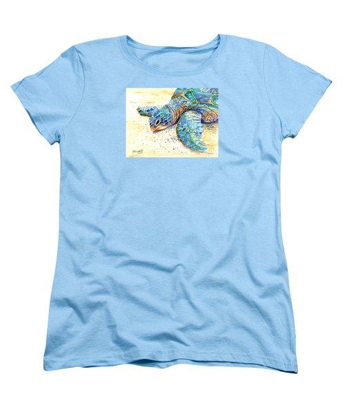 Turtle At Poipu Beach 4 Women's T-Shirt (Standard Cut)