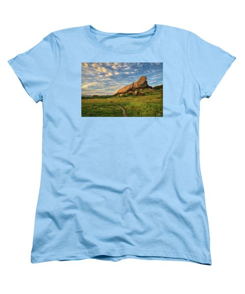 Turtle Rock At Sunset Women's T-Shirt (Standard Cut) by Endre Balogh