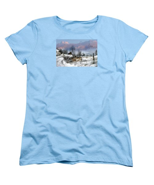 Twain's Barn Women's T-Shirt (Standard Cut) by Ed Hall