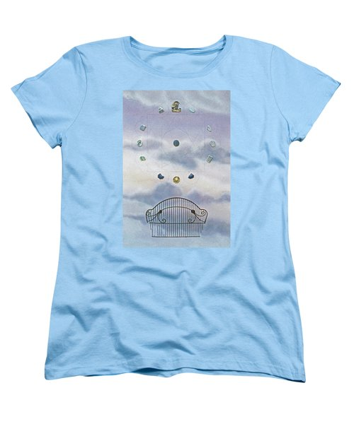 Women's T-Shirt (Standard Cut) featuring the painting Twelve by Laurie Stewart