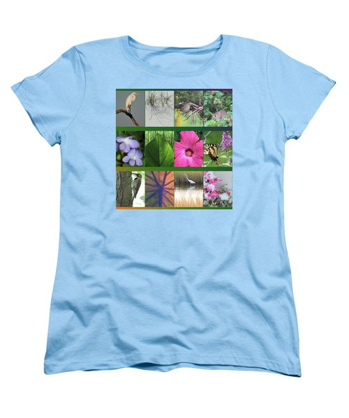 Women's T-Shirt (Standard Cut) featuring the photograph Twelve Months Of Nature by Peg Toliver