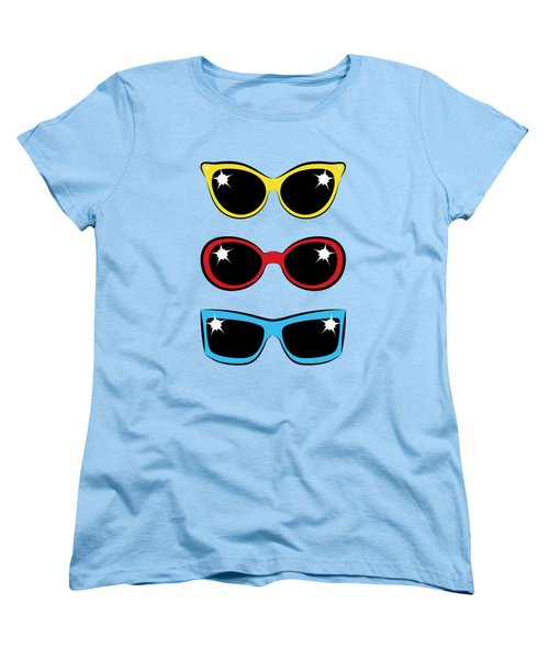 Women's T-Shirt (Standard Cut) featuring the digital art Twentieth Century Sunglasses by MM Anderson