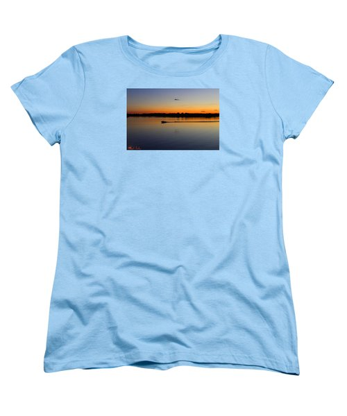 Women's T-Shirt (Standard Cut) featuring the photograph Twilight Water Skiing by Michael Rucker