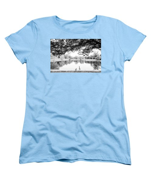 Women's T-Shirt (Standard Cut) featuring the photograph Two At The Pond by Karol Livote