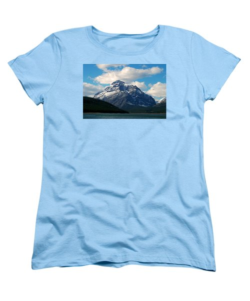 Two Medicine Lake And Rising Wolf Mountain Women's T-Shirt (Standard Cut)