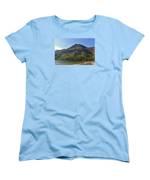 Women's T-Shirt (Standard Cut) featuring the photograph Two Medicine Lake by Dacia Doroff