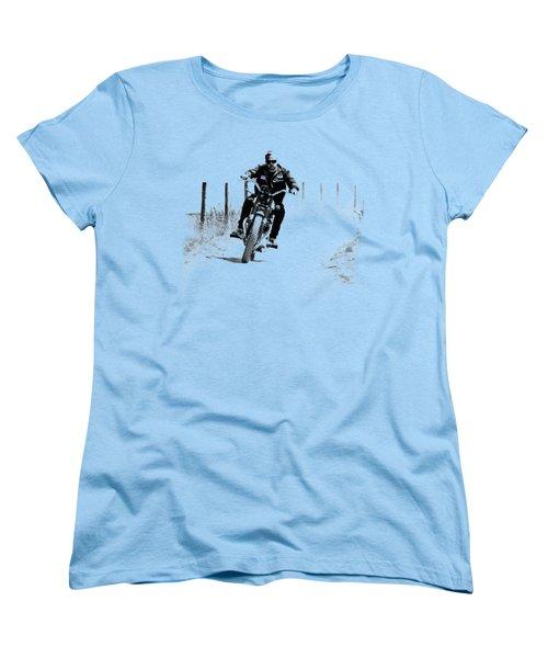 Two Wheels Move The Soul Women's T-Shirt (Standard Cut) by Mark Rogan