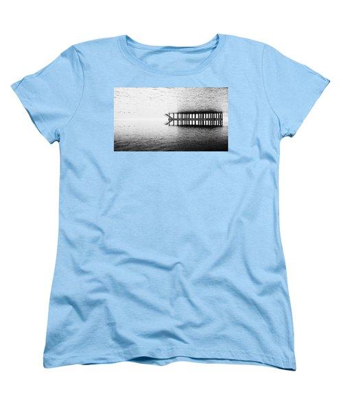 Two Worlds Women's T-Shirt (Standard Cut) by Chevy Fleet