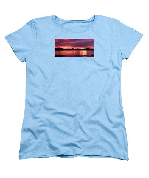 Twofold Bay Sunset Women's T-Shirt (Standard Cut) by Racheal  Christian