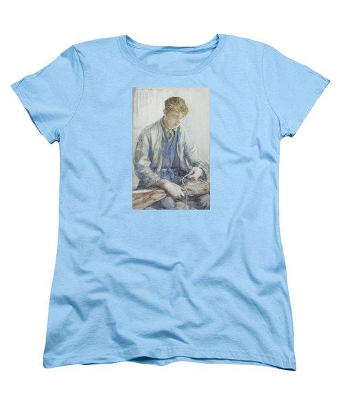 Tying The Sail Women's T-Shirt (Standard Cut) by Henry Scott Tuke