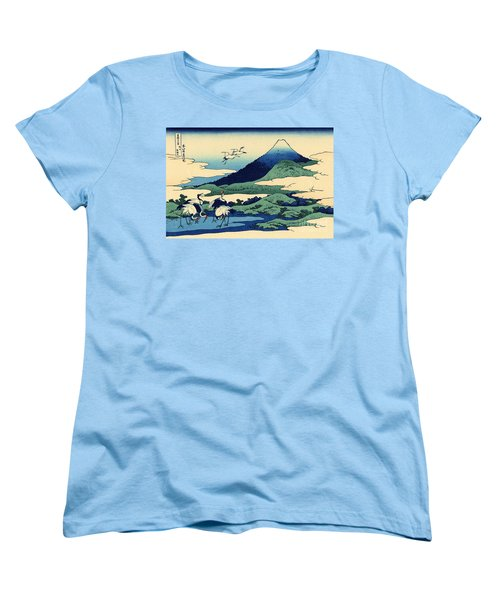 Umegawa In Sagami Province, One Of Thirty Six Views Of Mount Fuji Women's T-Shirt (Standard Cut) by Hokusai