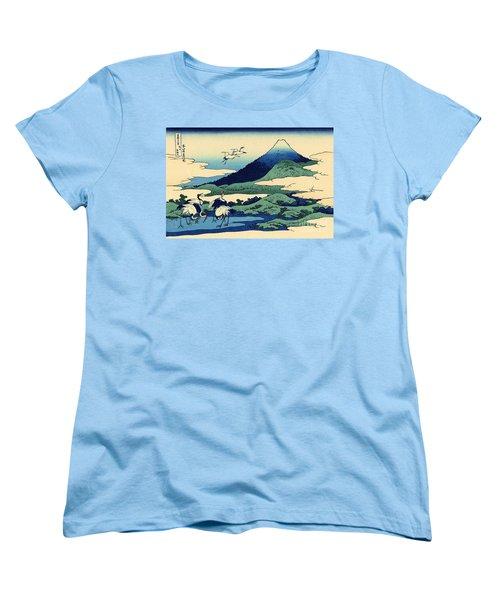 Umegawa In Sagami Province, One Of Thirty Six Views Of Mount Fuji Women's T-Shirt (Standard Cut) by Hokusai
