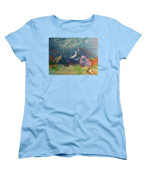 Under The Sea Women's T-Shirt (Standard Cut) by Denise Tomasura