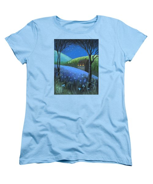Women's T-Shirt (Standard Cut) featuring the painting Under The Stars by Terry Webb Harshman