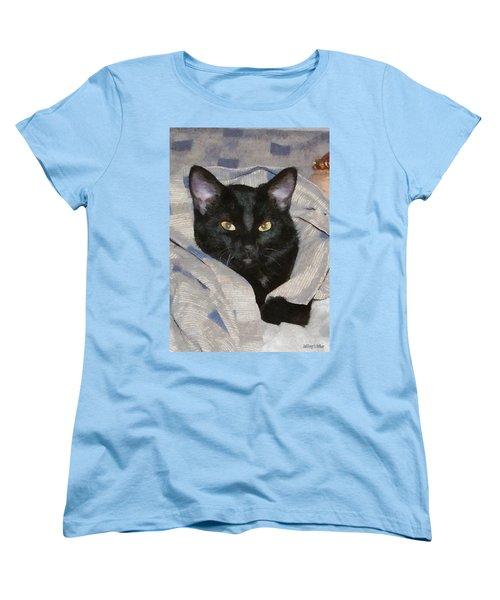 Undercover Kitten Women's T-Shirt (Standard Cut) by Jeff Kolker