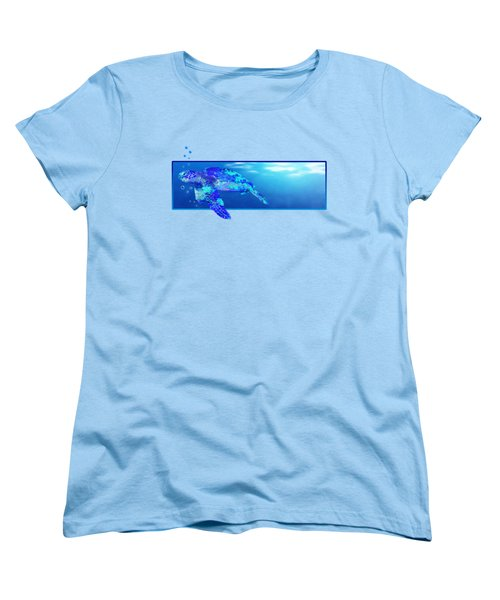 Underwater Sea Turtle Women's T-Shirt (Standard Cut) by Chris MacDonald