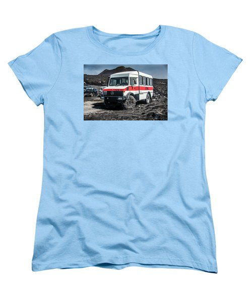 Unimog On Mt. Etna Women's T-Shirt (Standard Cut) by Patrick Boening