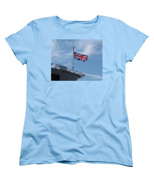 Union Jack Women's T-Shirt (Standard Cut) by Richard Brookes