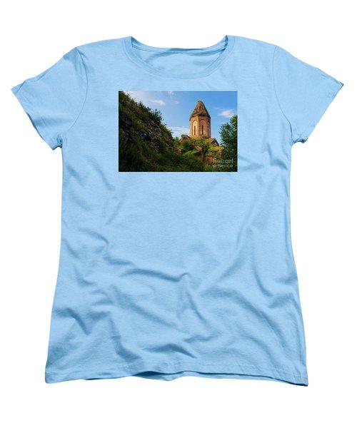Unique Kirants Monastery On A Sunny Day, Armenia Women's T-Shirt (Standard Cut) by Gurgen Bakhshetsyan