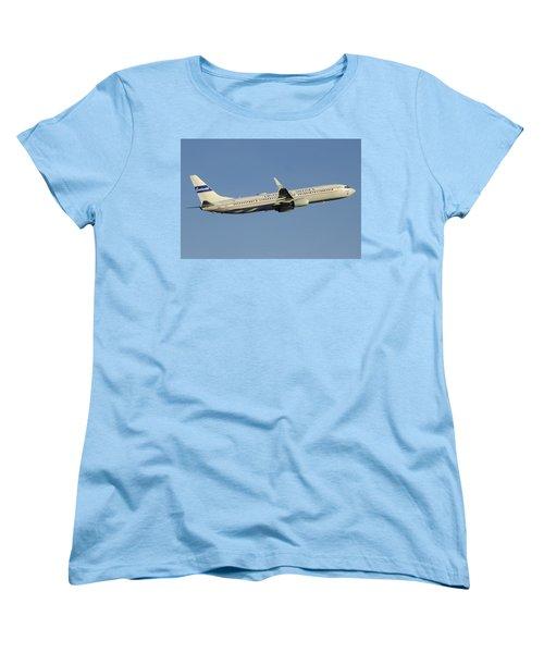 United Boeing 737-924 N75436 Retro Continental Phoenix Sky Harbor December 9 2015 Women's T-Shirt (Standard Cut) by Brian Lockett