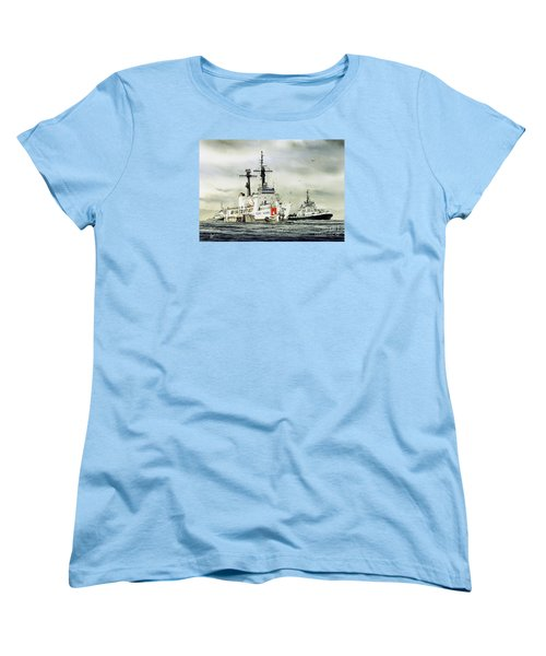 United States Coast Guard Boutwell Women's T-Shirt (Standard Cut) by James Williamson