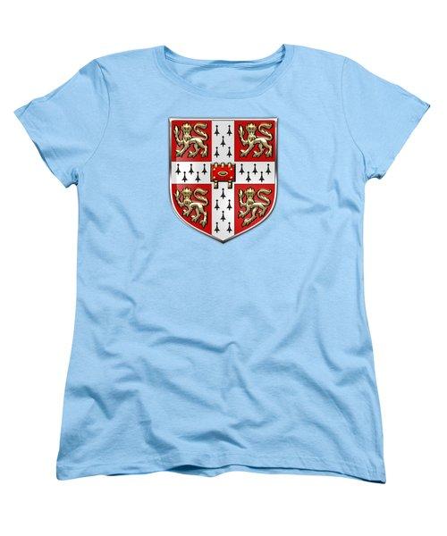 University Of Cambridge Seal - Coat Of Arms Over Colours Women's T-Shirt (Standard Cut)