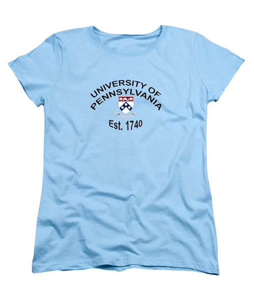 University Of Pennsylvania Est 1740 Women's T-Shirt (Standard Cut) by Movie Poster Prints