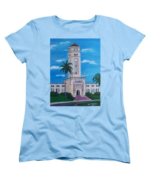University Of Puerto Rico Tower Women's T-Shirt (Standard Cut) by Luis F Rodriguez
